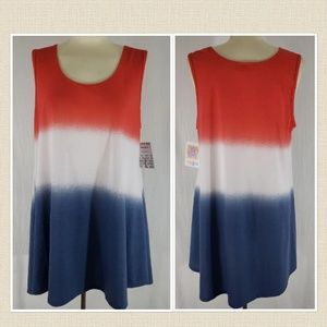 NWT Lularoe L Perfect Tank flag colors!!